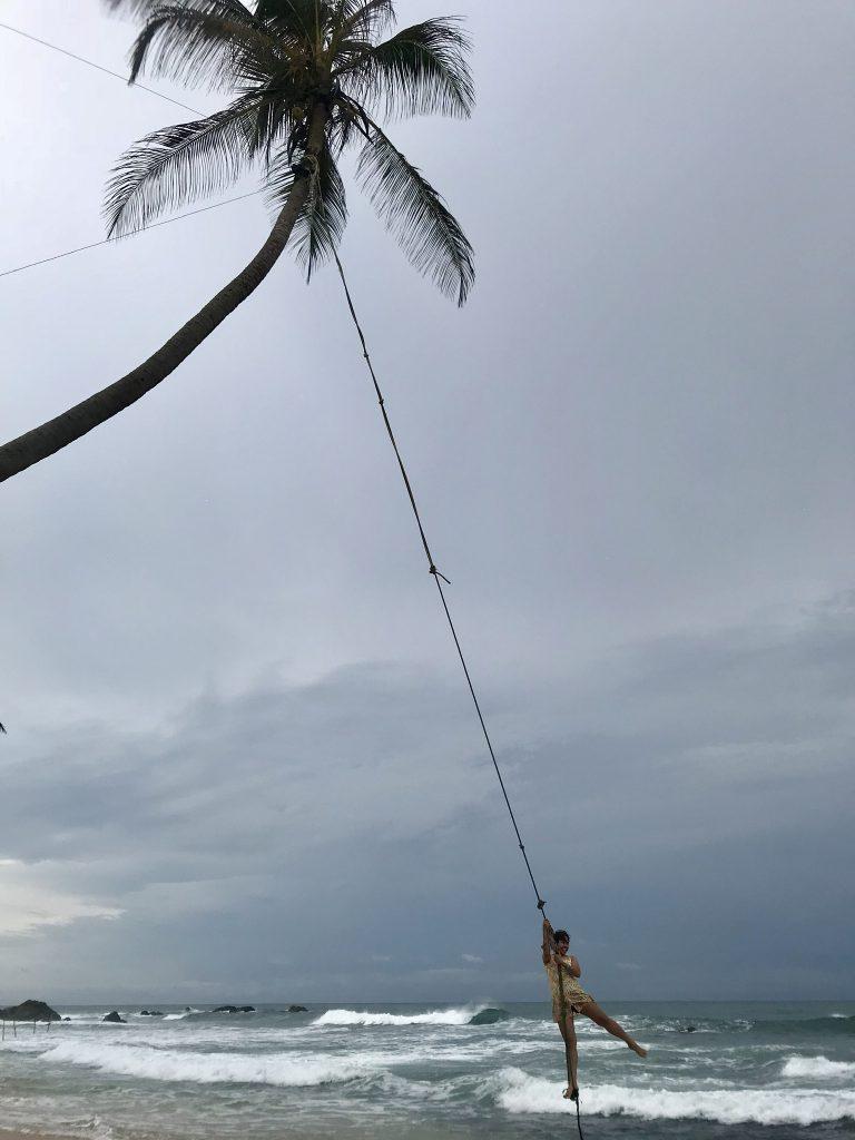 Girl on a swing in Sri Lanka